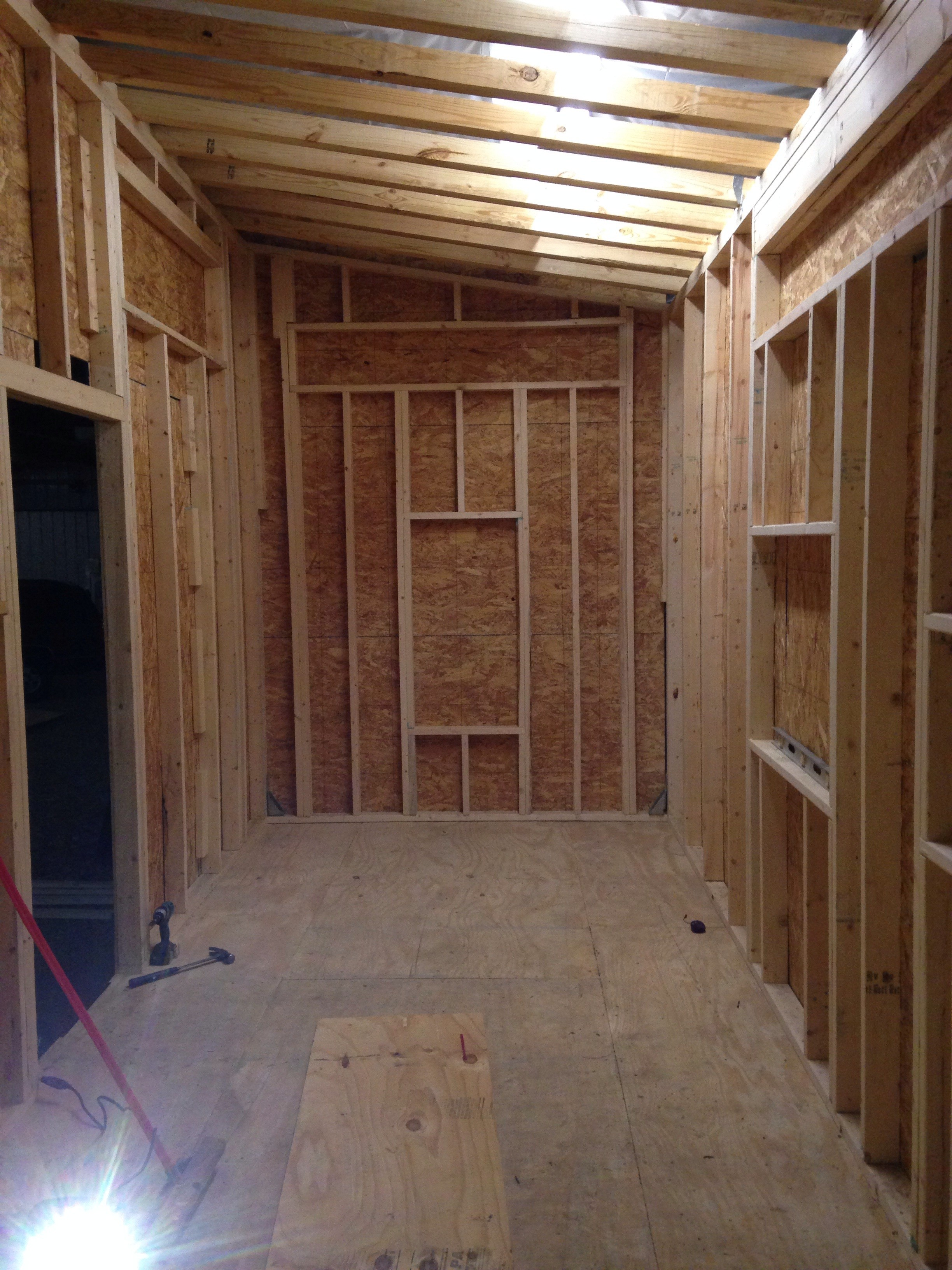 sheathing- interior view